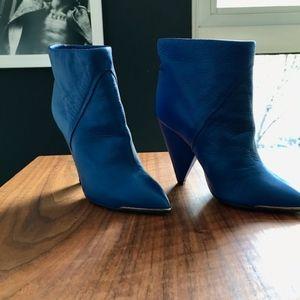 IRO bright cobalt blue leather booties - 37 / 6.5